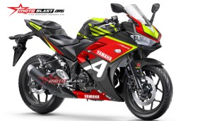 Graphic Kit Yamaha R25 Black Red A