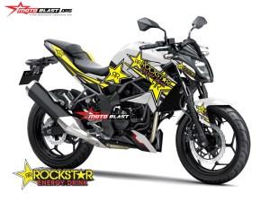 Graphic Kit Kawasaki Z250SL White Rockstar