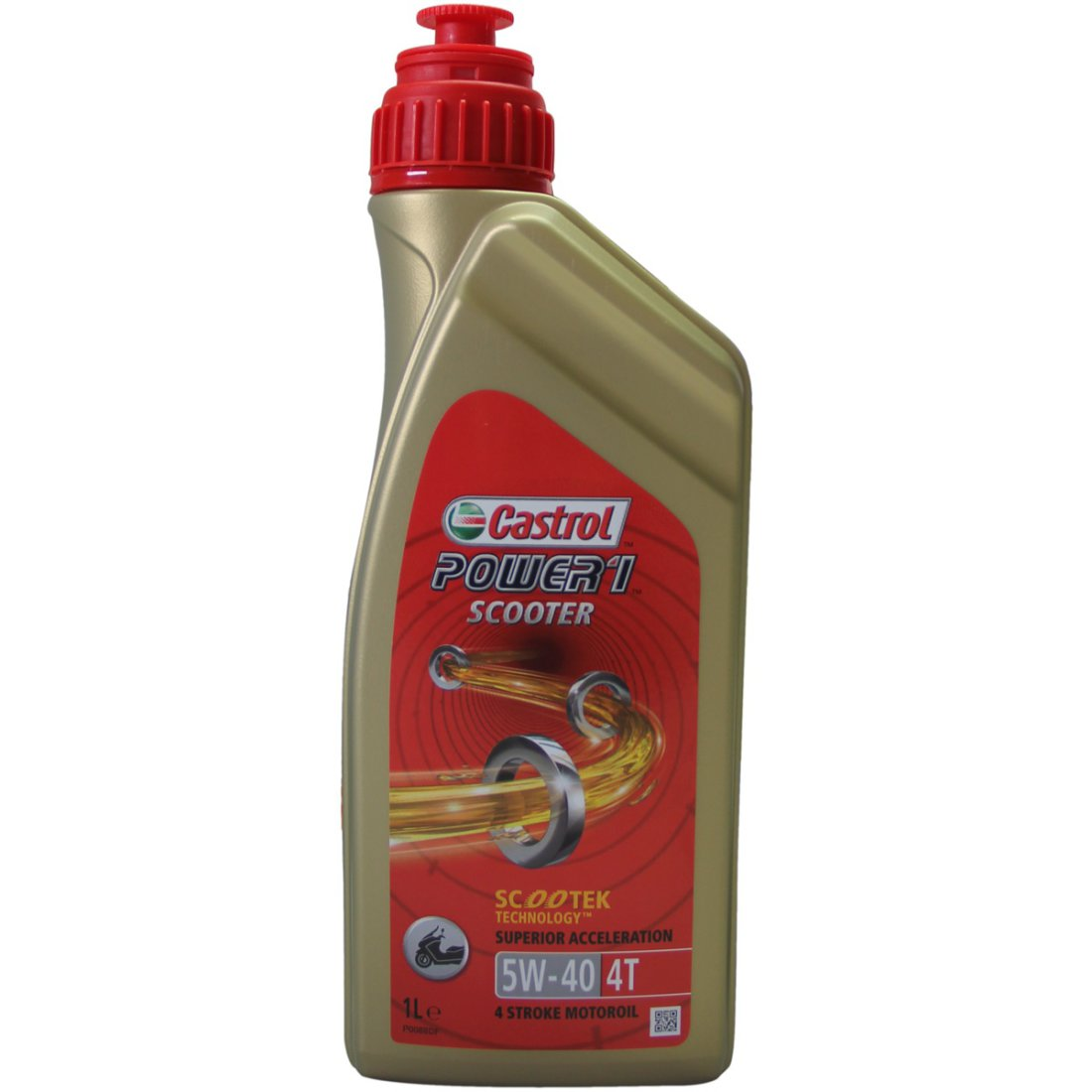 5 W 40 Castrol Power 1 Scooter 4t 1l 5w 40 Oil And Spray