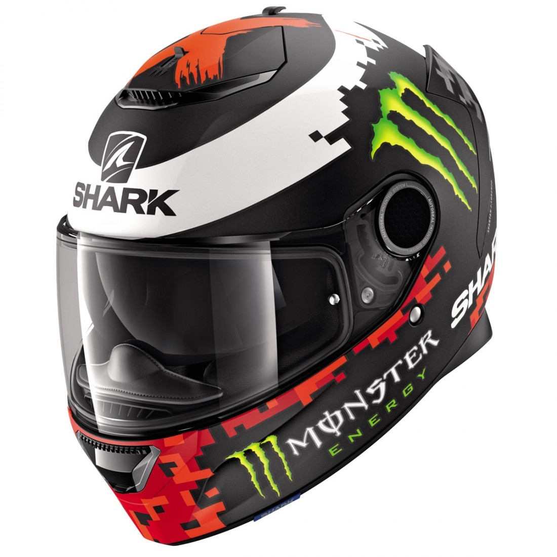 Replica ???? Shark Spartan 1 2 Replica Lorenzo Monster Mat 2018 Helmet