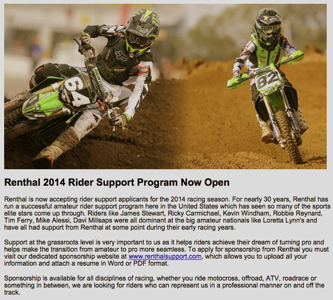 MOTOCROSS ACTION\u0027S WEEKEND NEWS ROUND-UP SPONSORSHIPS OPPORTUNITES