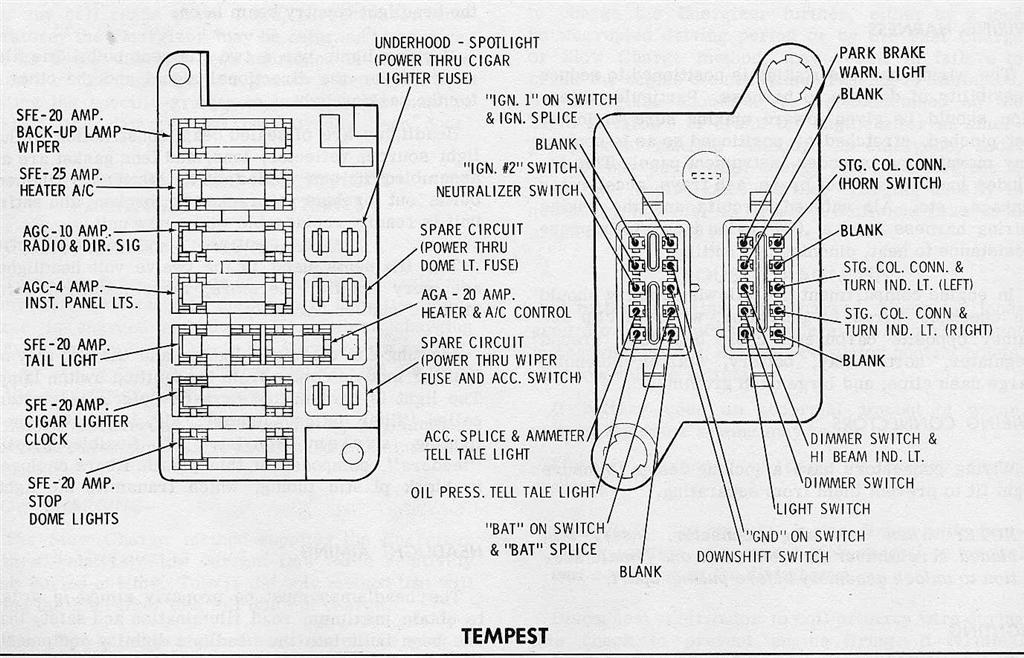 69 camaro fuse box schematic