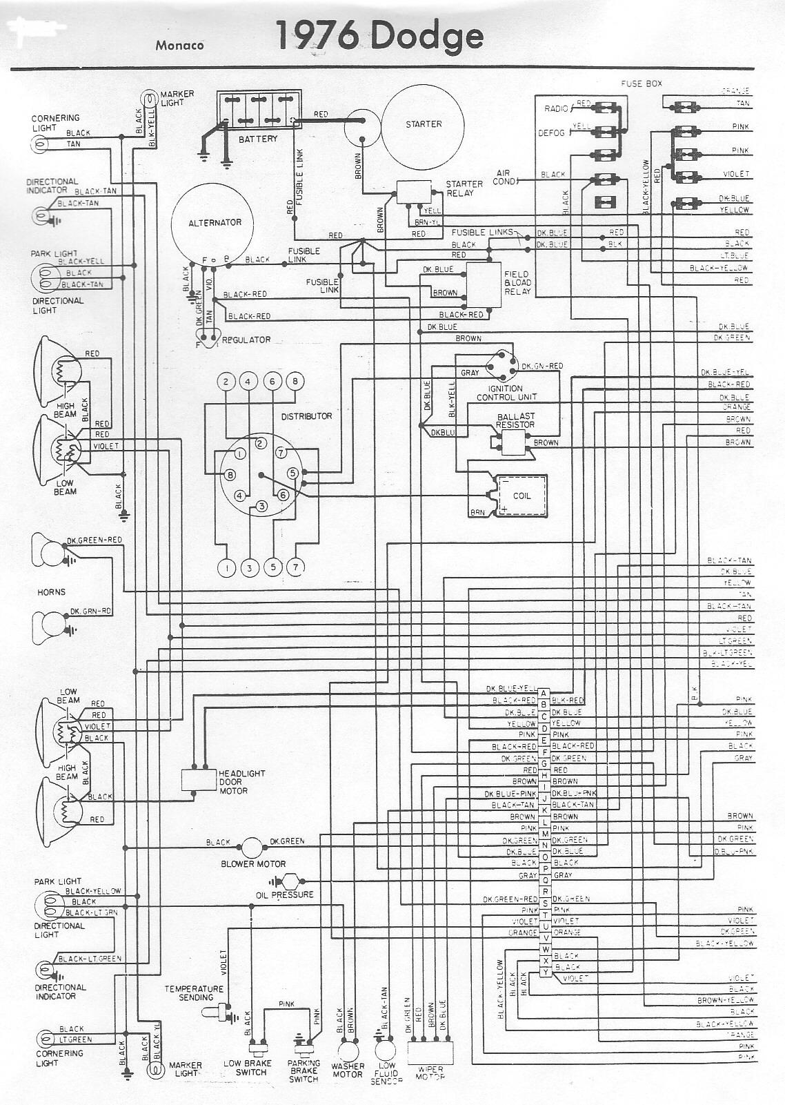 1976 Dodge Wiring Diagram Wiring Diagram Pass