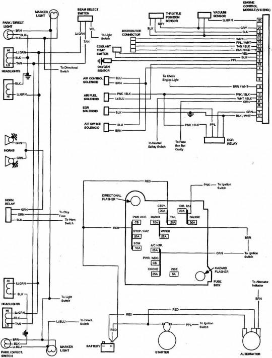 1987 chevy s10 wiring harness diagram