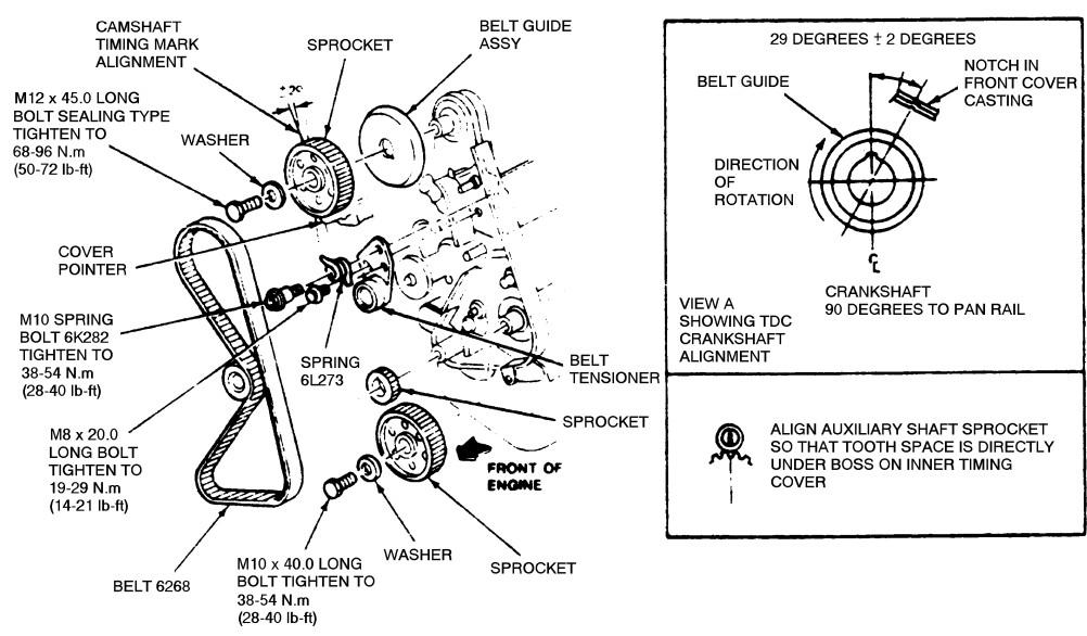1993 ford ranger belt diagram