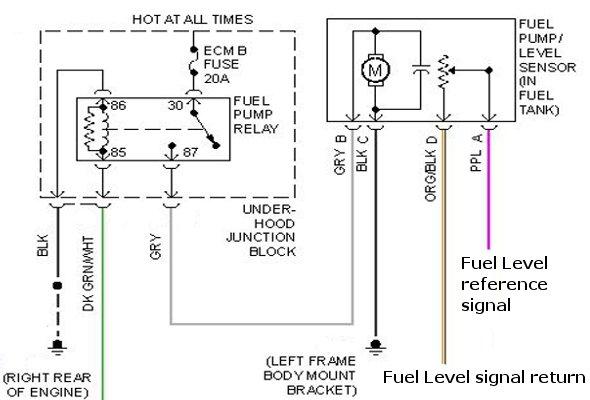 Wiring Diagram For Fuel Pump Wiring Diagram