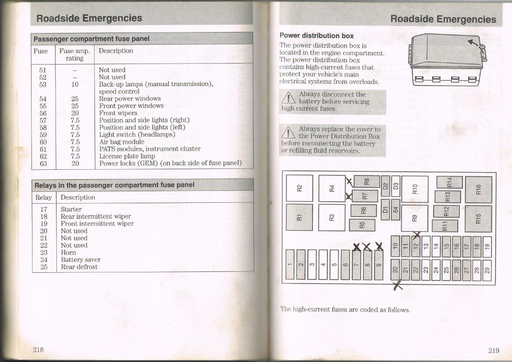 2000 Ford Focus Fuse Box Diagram - image details