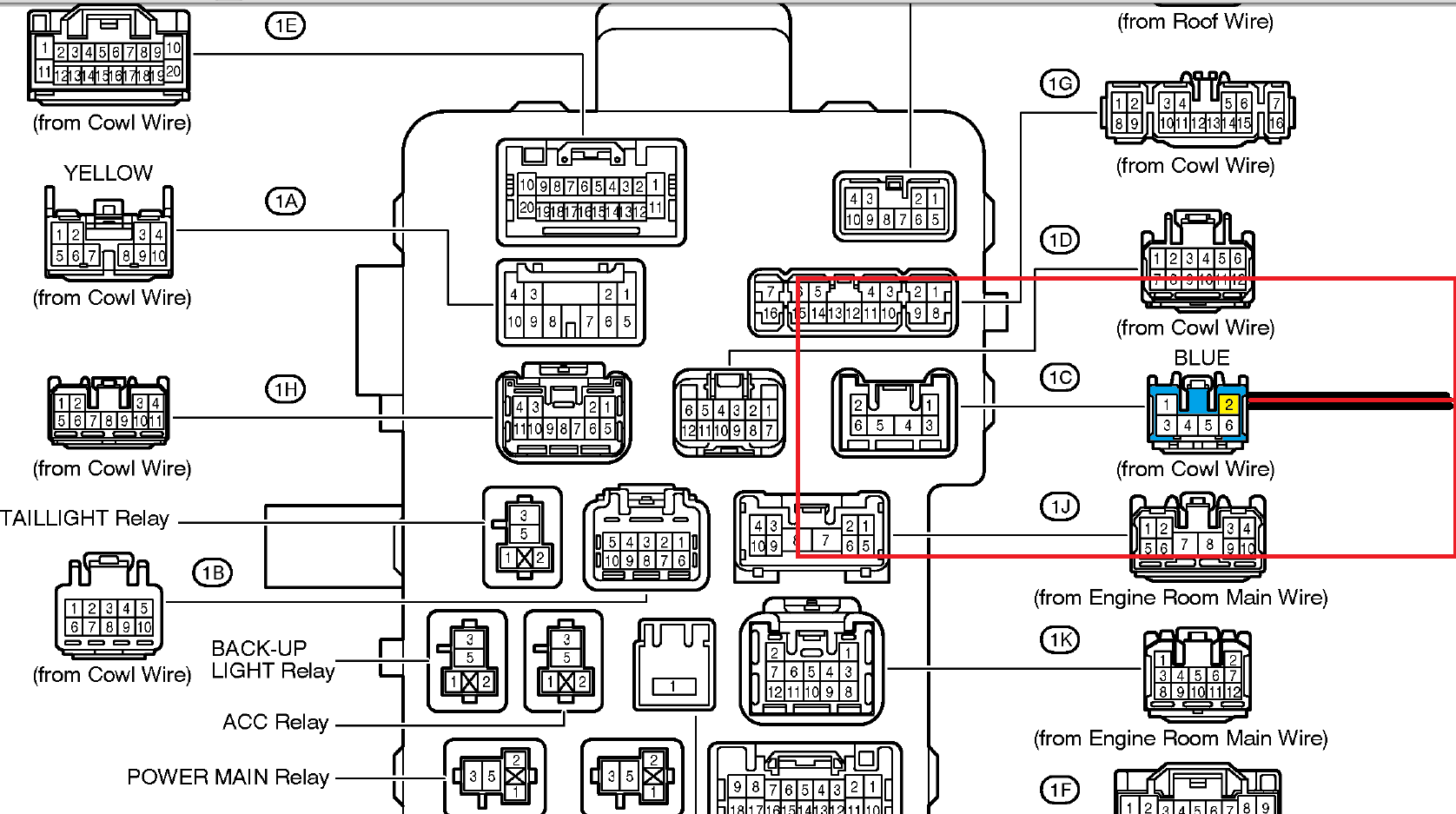 2001 Toyotum Sienna Fuse Box Diagram