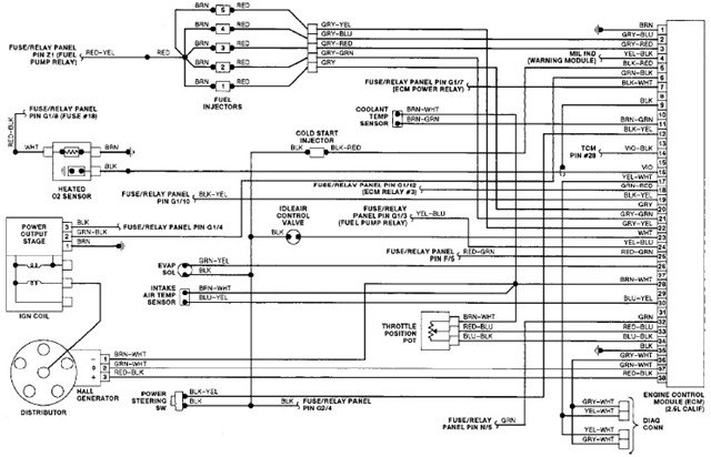 Cluster Wiring Diagram Excerpted Illustration From Volkswagen Jetta
