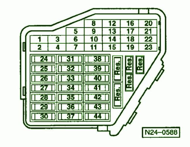2003 VW Passat Fuse Box Diagram - image details
