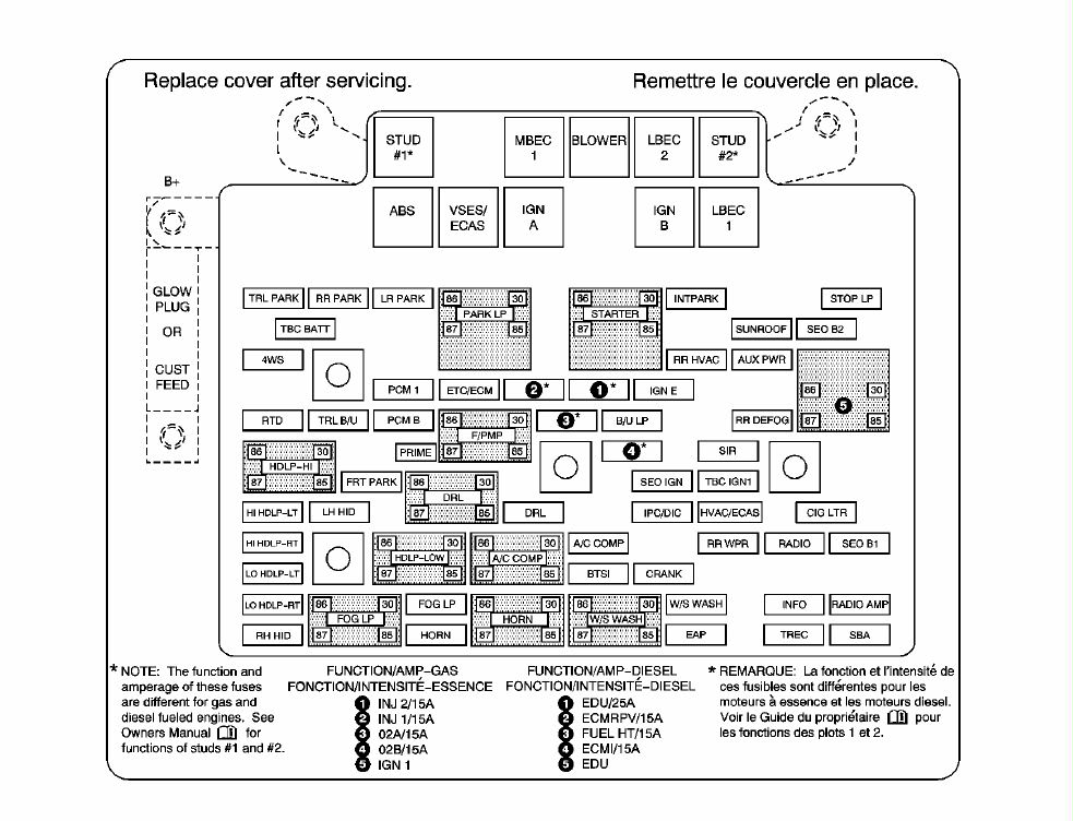 2004 Cadillac Fuse Box Wiring Diagram