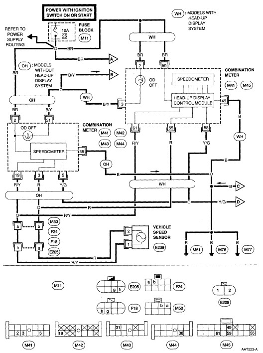 2004 Nissan An Wiring Diagrams Index listing of wiring diagrams