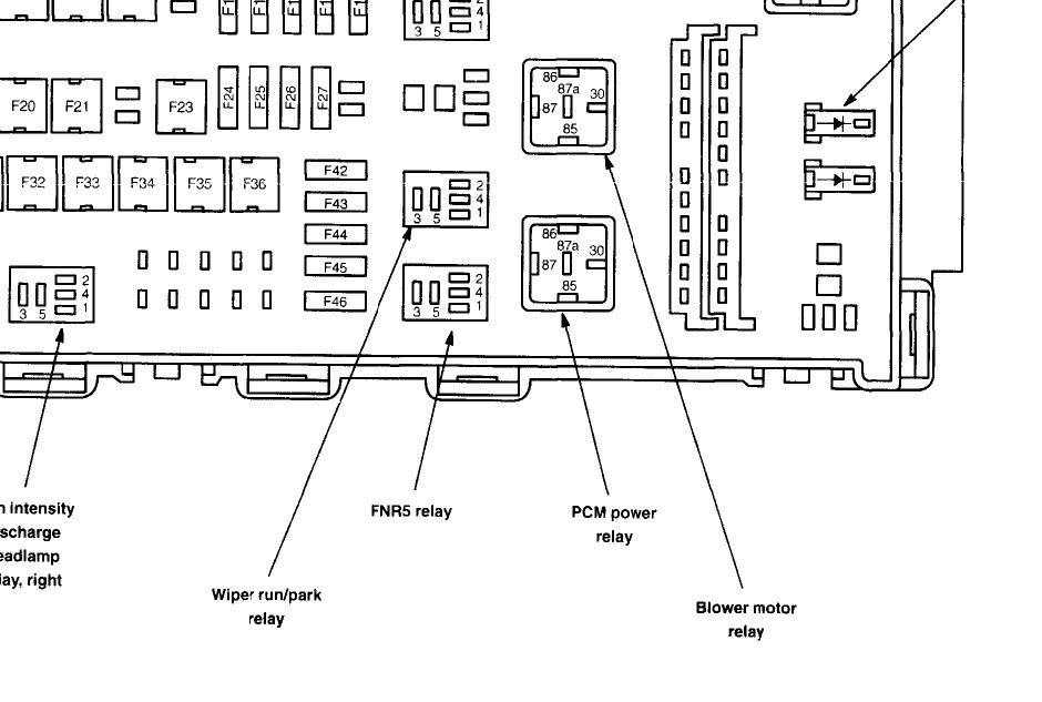 Ford 500 Fuse Boxes Index listing of wiring diagrams