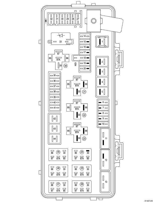 2010 dodge avenger fuse box diagram