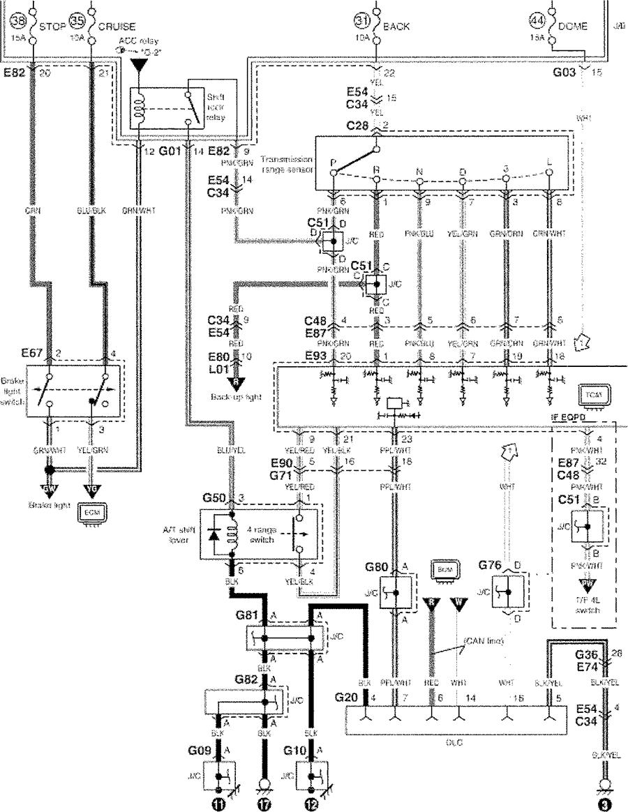 1994 suzuki sidekick front fuse box diagram