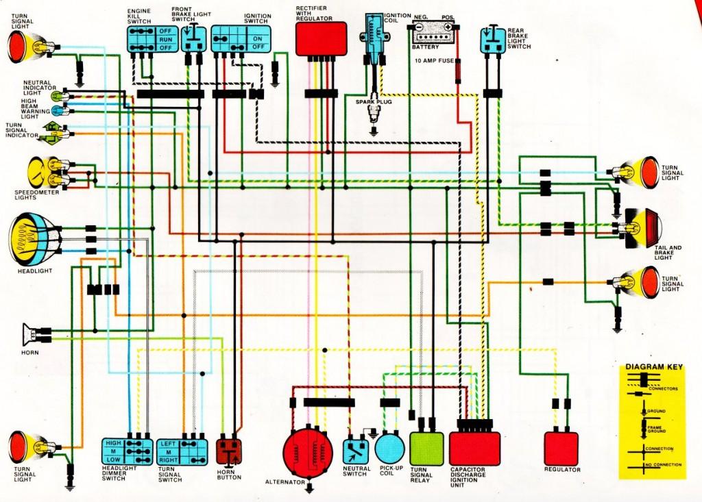 Honda Motorcycle Wiring Diagrams - image details
