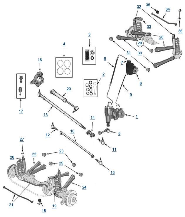 Audi A4 Suspension Diagram - image details
