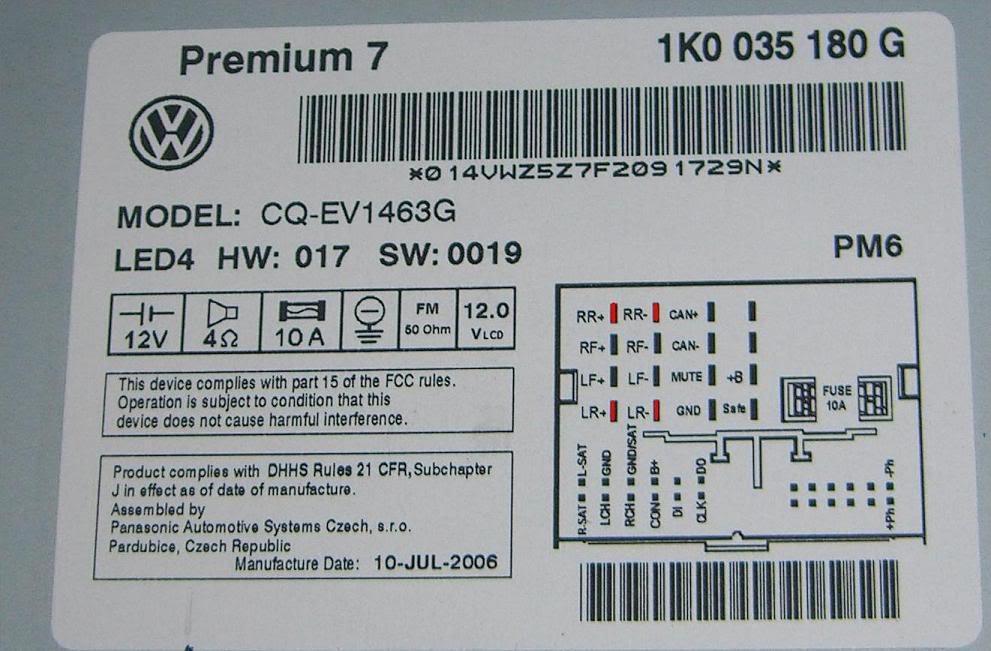Volkswagen Radio Wiring Diagram Schematic Diagram Electronic