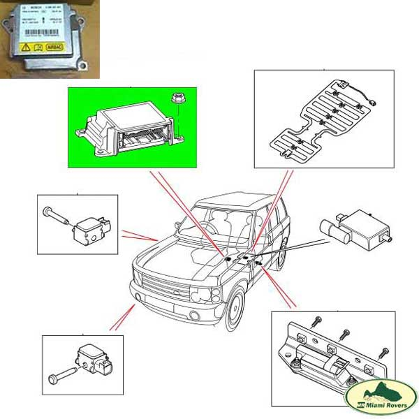 Location ECU 05 Range Rover Suspension - image details
