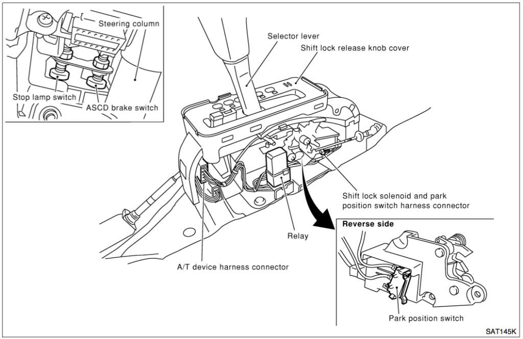 Nissan Altima Shift Lock Solenoid - image details