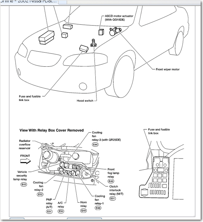nissan b13 fuse box diagram