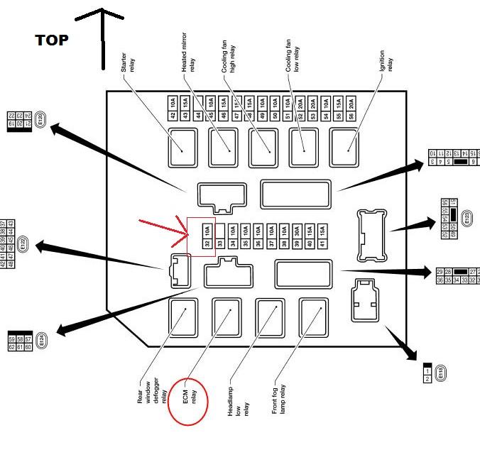 97 nissan sentra fuse box diagram