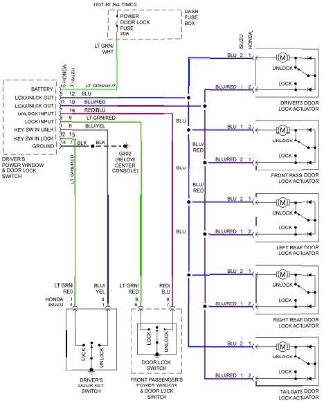 Honda Door Lock Wiring Diagram Wiring Diagram