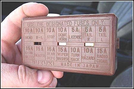 1986 Suzuki Samurai Fuse Box Index listing of wiring diagrams