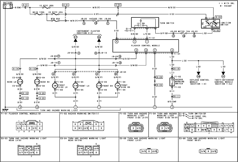 Taillights, Console Switch, Power Windows Wiring Diagram (click to