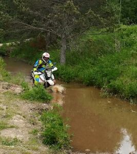 A water crossing is a must on a technical track.