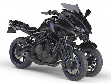 Yamaha MWT9 tilting three-wheeler concept robot