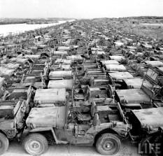 Jeep Willys MB Ford GPW Salvage Yard Okinawa 1949