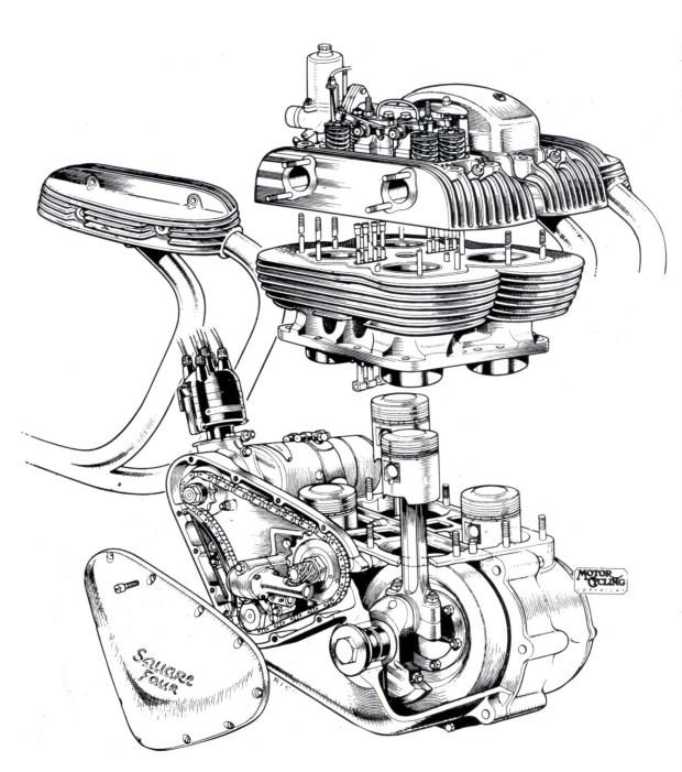 ariel square four engine diagram
