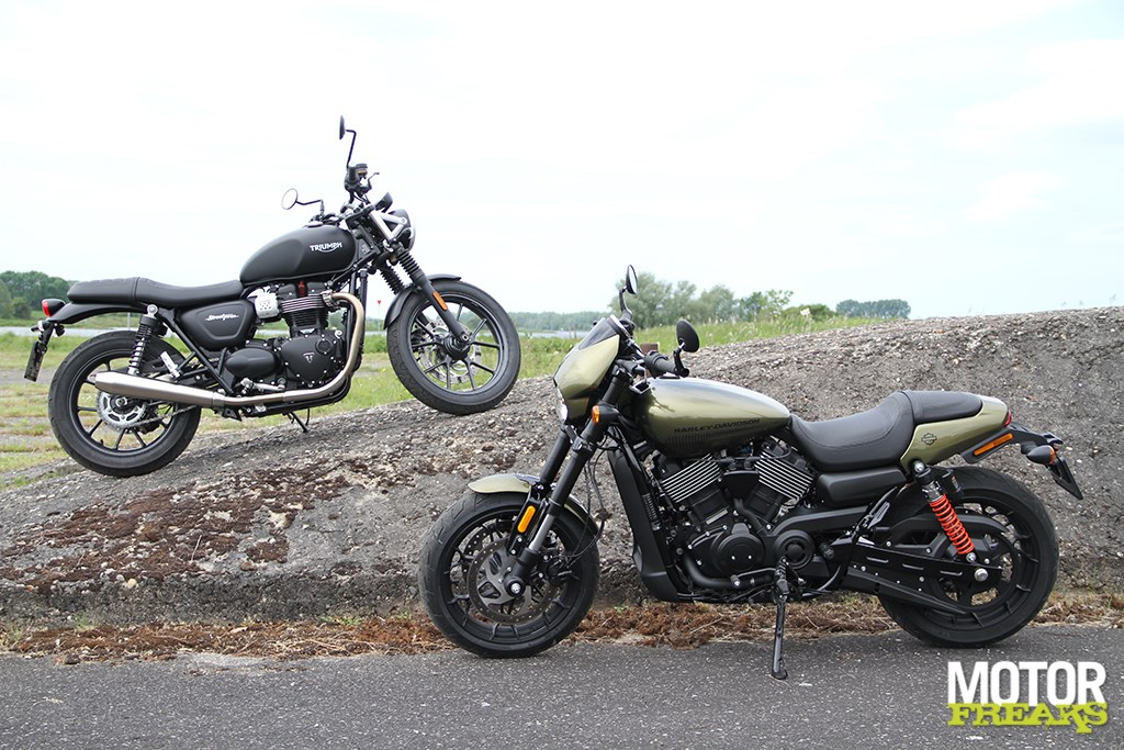 Hollands Markten Motorfreaks - Test: Harley-davidson Street Rod Vs. Triumph