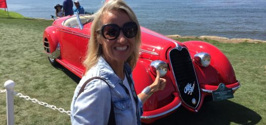 Mama spends some quality time with this Alfa Romeo in Pebble Beach.