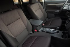 2014 Mitsubishi Outlander Black Fabric Interior