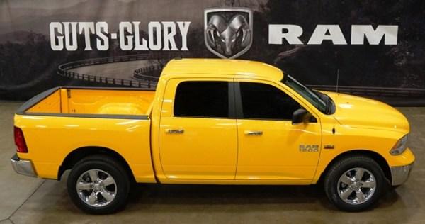 La Yellow Rose of Texas Edition es otra edición especial amarilla de la Ram 1500, pero está disponible únicamente en el estado de Texas.