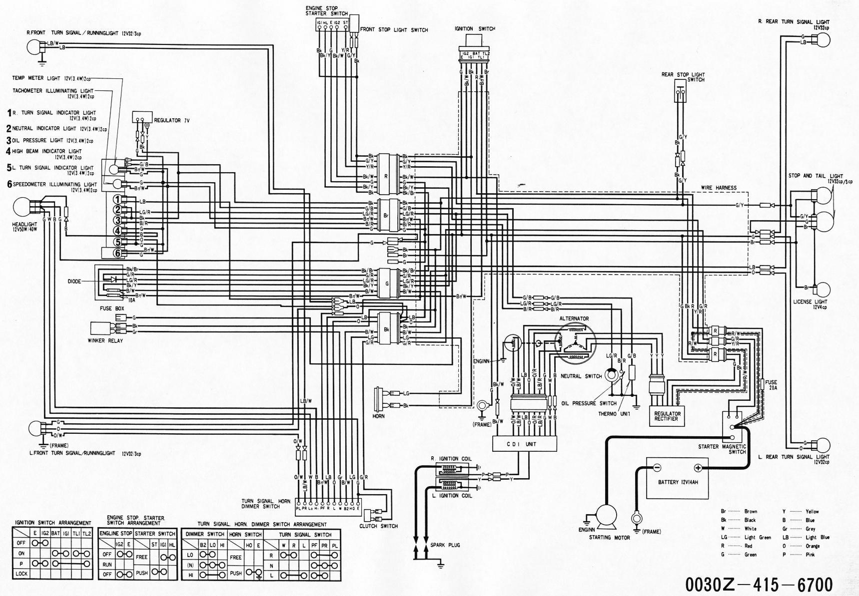 honda cx500 wiring diagram