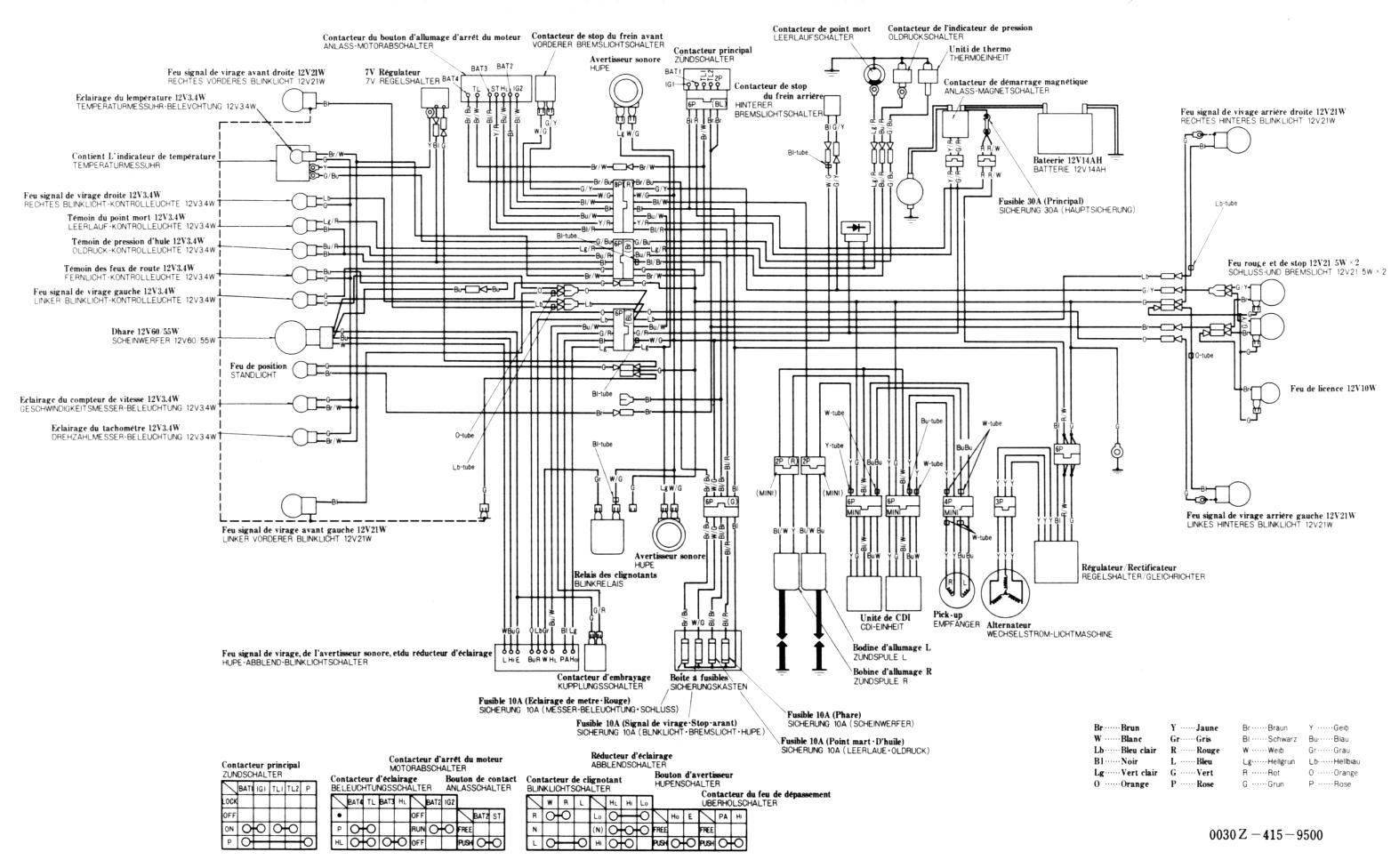 wiring diagram honda gl pro