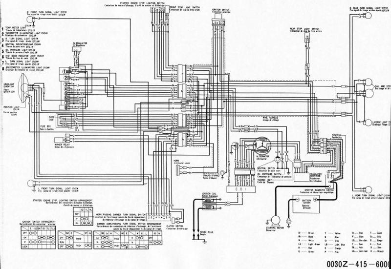 wiring diagram honda cx500