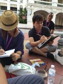 Yandi mengintip Vanont, sketcher dan watercolor guru dari Bangkok