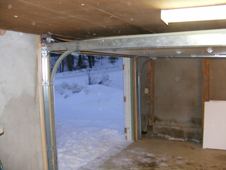Low Headroom Garage Door Installation Exterior Hardware