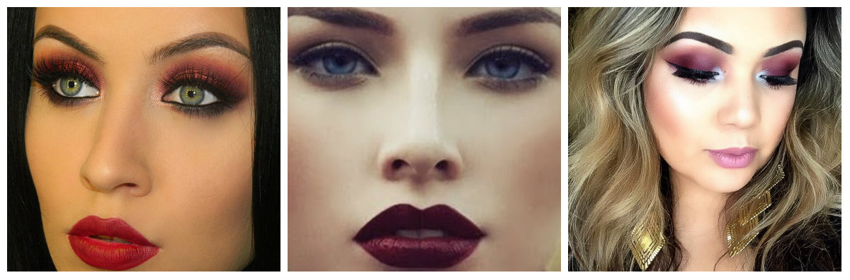 Rode Marsala Make-up