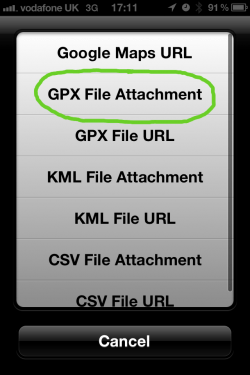 GPX File Export