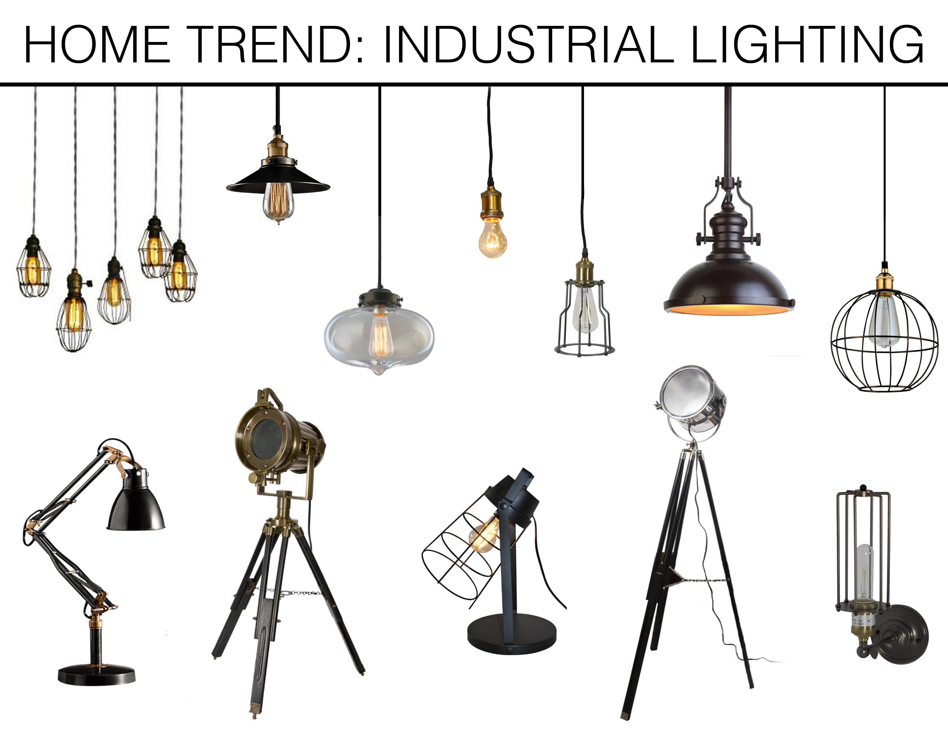 Industrial Style Lighting Industrial Lighting Mountain Home Decor