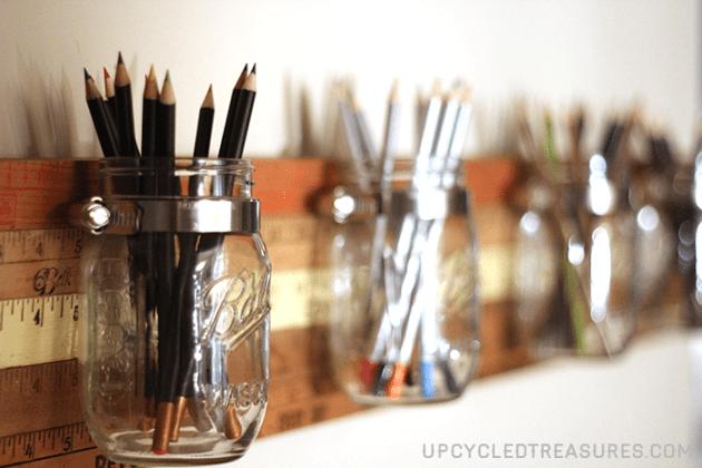 diy-mason-jar-organizer-with-vintage-yardsticks-upcycledtreasures