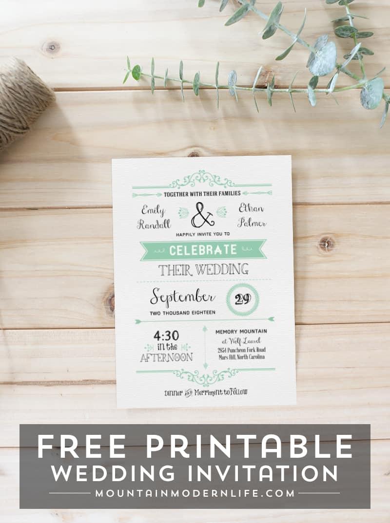 Free Rustic Wedding Invitation Templates Download Matik
