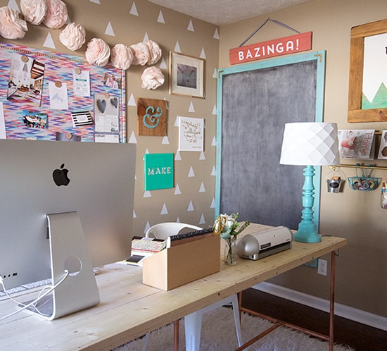 Giant chalkboard in office space mountainmodernlife.com