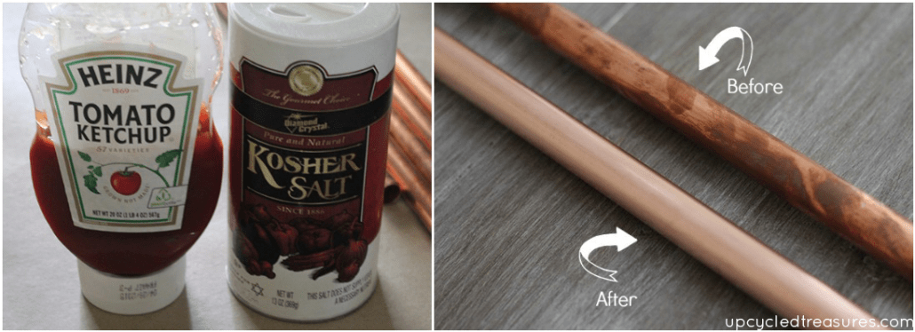 cleaning-copper-with-ketchup-kosher-salt-upcycledtreasures