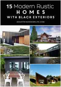 Modern Rustic Homes with Black Exteriors | Mountain Modern ...